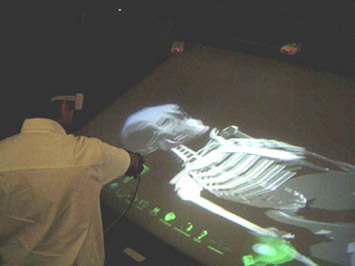 9.  A researcher working with a 3D human skeletal structure